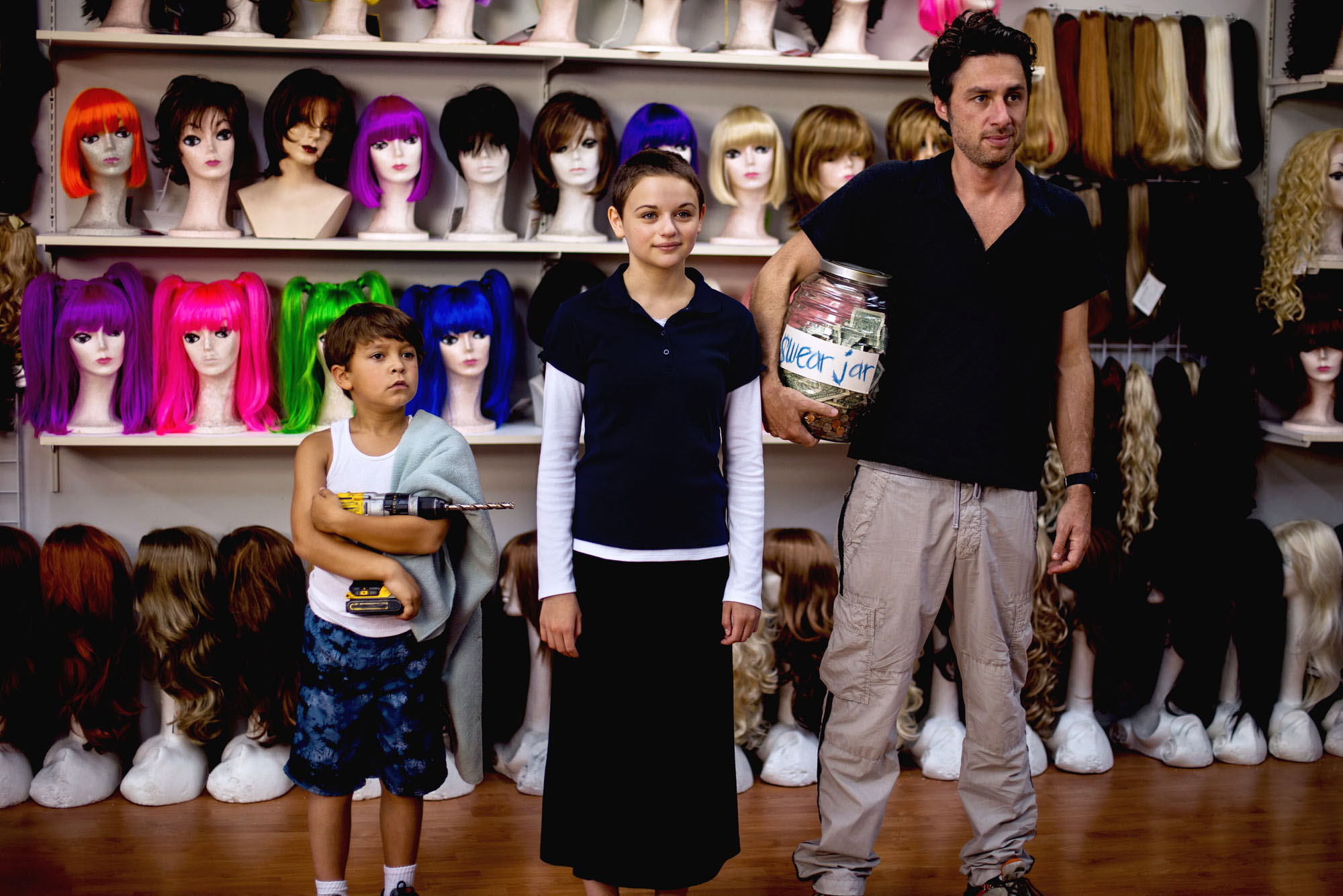 Pierce Gagnon, Joey King e Zach Braff in Wish I Was Here (Zach Braff, 2014)