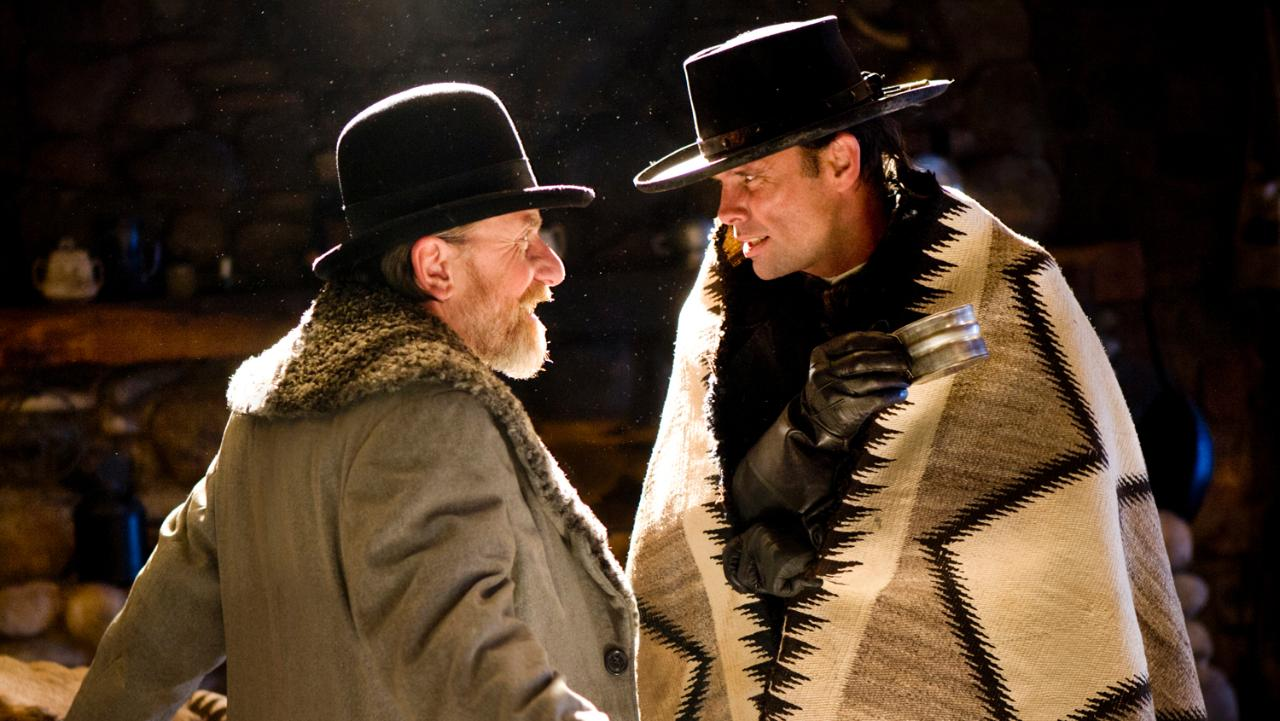 Tim Roth e Walton Goggins in The Hateful Eight