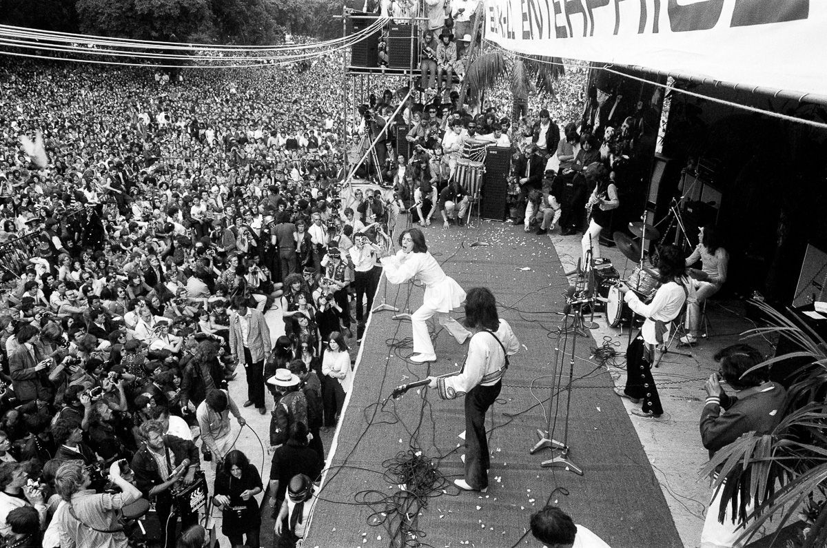 I Rolling Stones ad Hyde Park nel 1969