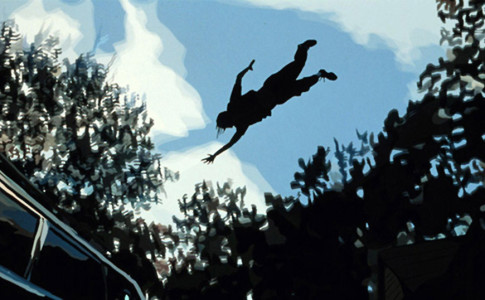 Un frame tratto da Waking Life (Richard Linklater, 2001)