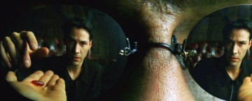 Keanu Reeves e Laurence Fishburne in una scena di The Matrix, da cui la Red Pill Theory prende il nome