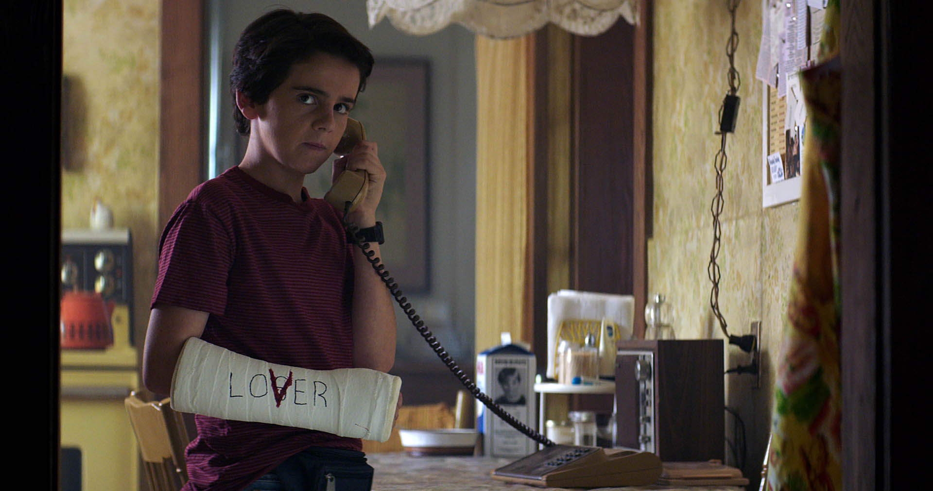 Jack Dylan Grazer (Eddie) in It, di Andrés Muschietti
