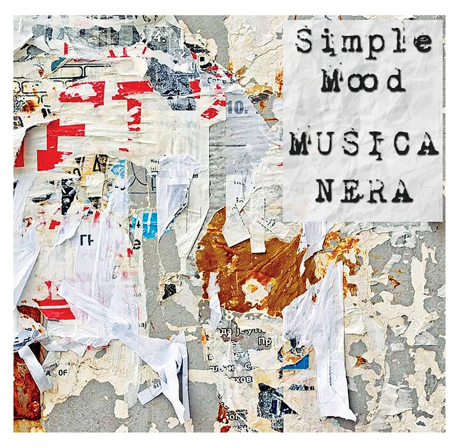 La cover di Musica Nera, EP d'esordio dei Simple Mood