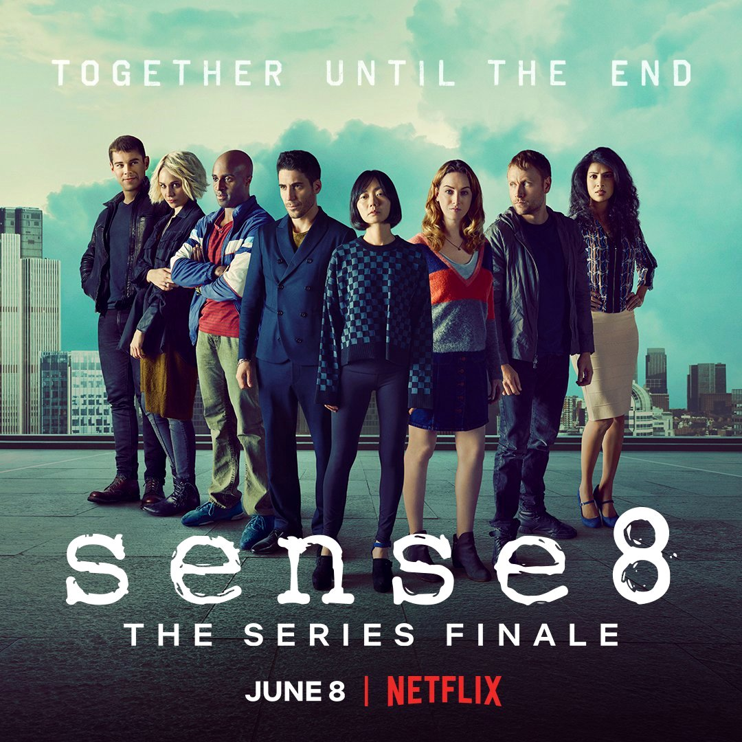 Together untill the end: il poster annuncia l'ultimo episodio di Sense8, la serie Netflix diretta da Lana e Lilly Wachowski