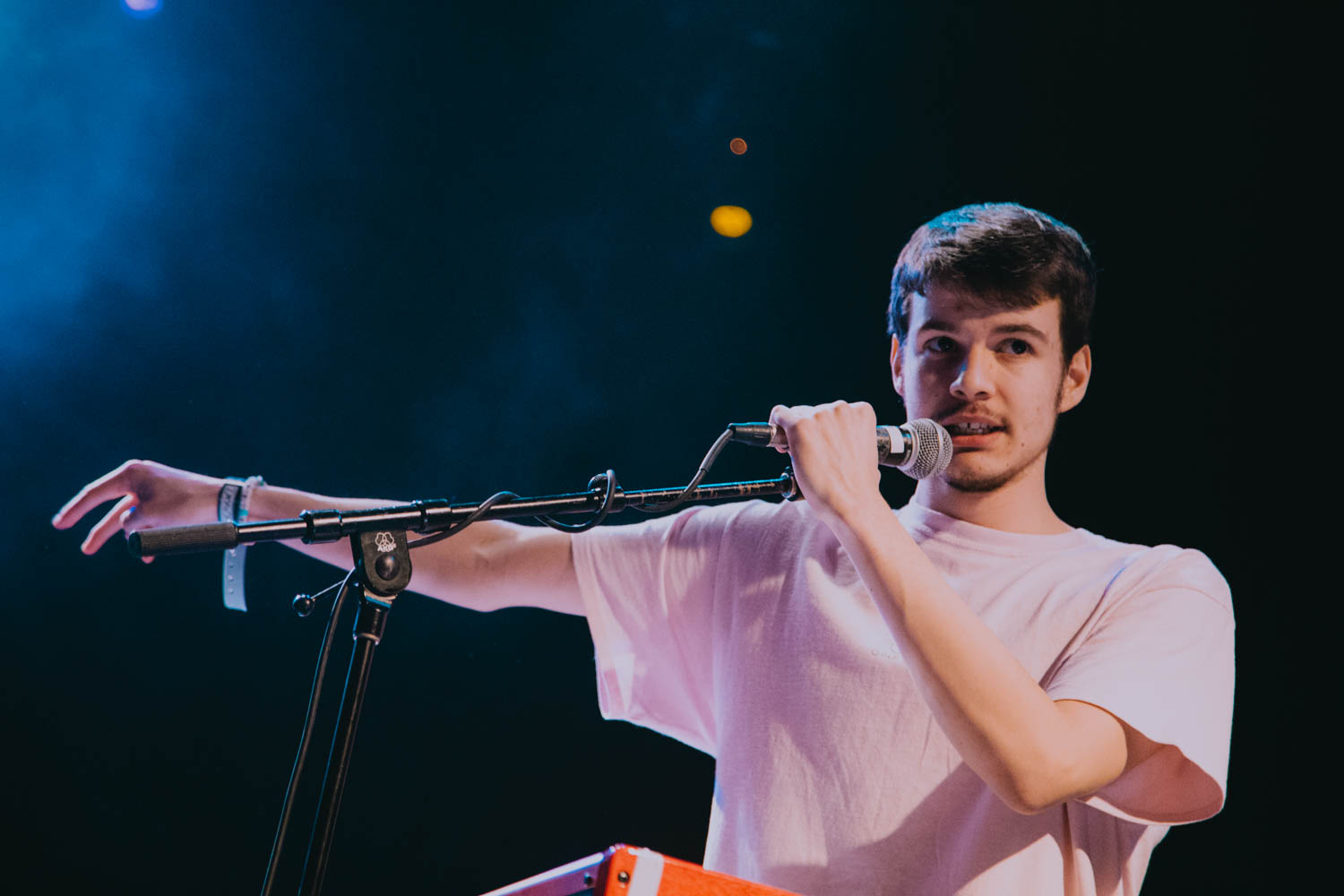 Rex Orange County durante una sua esibizione.