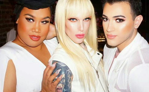 In foto da sinistra, i make-up artist Patrick Starr, Jeffree Star and Manny Mua