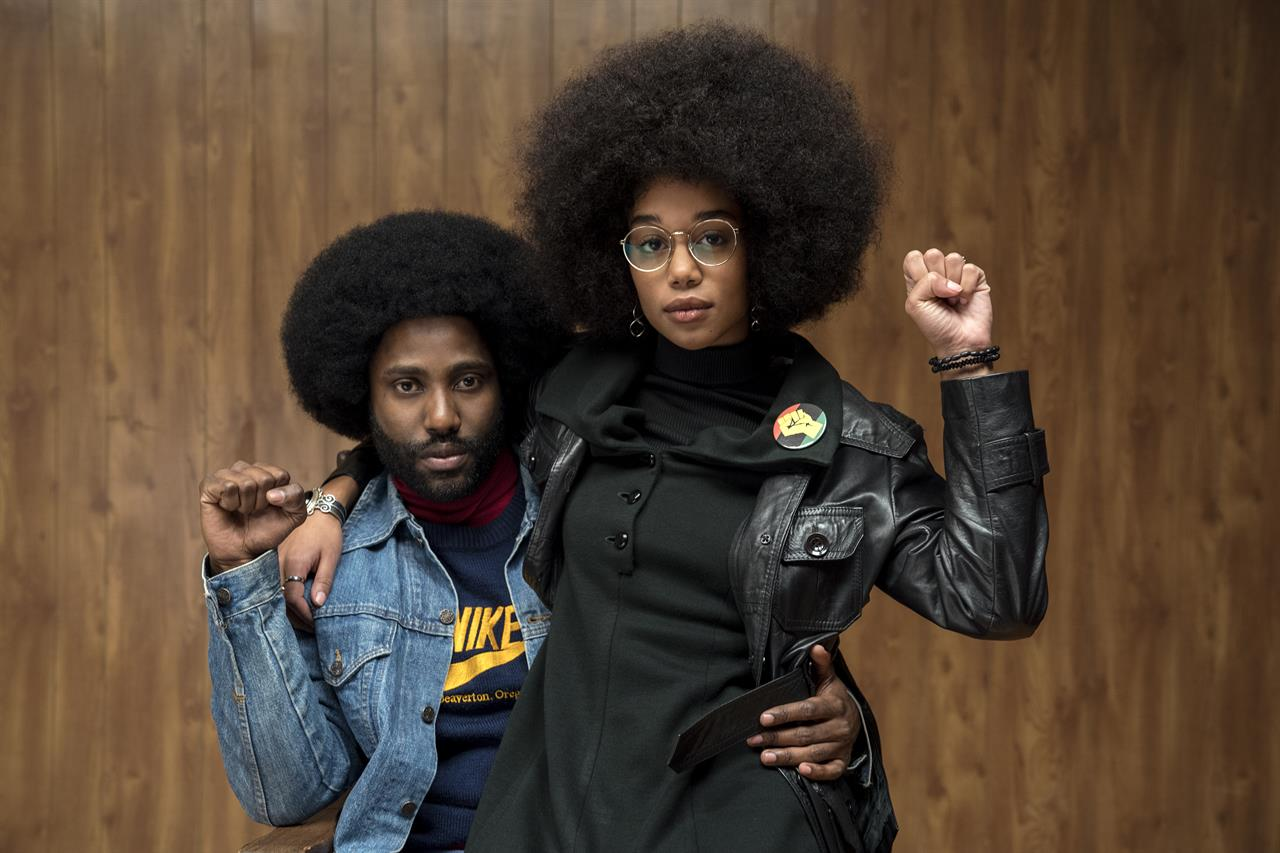 In foto, John David Washington e Laura Harrier in BlacKkKlansman