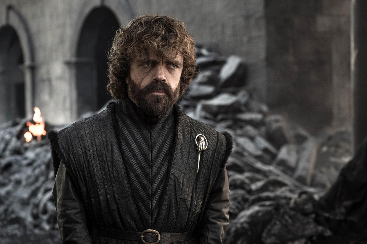 Peter Dinklage nei panni di Tyrion Lannister nella serie TV Game of Thrones (HBO)