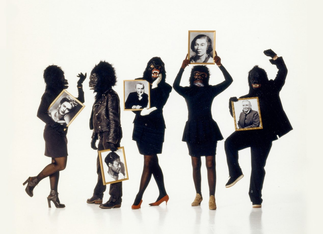 In foto, il collettivo di artiste e attiviste Guerrilla Girls
