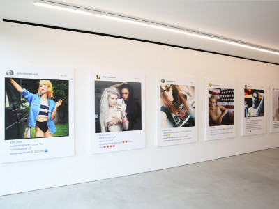 In foto, alcune delle opere esposte durante la mostra New Portraits (Frieze Art Fair, New York), di Richard Price