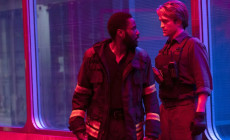 1John David Washington e Robert Pattinson in una scena di Tenet, di Christopher Nolan