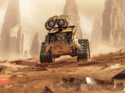 Il robottino Wall-E in una scena del film